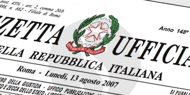 Gazzetta ufficiale delle norme vigenti in Italia